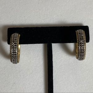 Kenneth Cole | Gold Marcasite Hoop Earrings